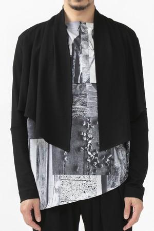 サラッと羽織れる楽ちんフォーマルショート丈ジャケット/ブラック