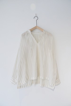 【ORDINARY FITS】FLORIST BLOUSE stripe/OF-S007S