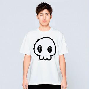 ドクロ Tシャツ メンズ レディース おしゃれ かわいい 白 夏 プレゼント 大きいサイズ 綿100% 160 S M L XL