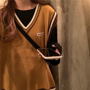 〈@mariannudayo様着用〉オーバーサイズニットベスト【over size knit vest】