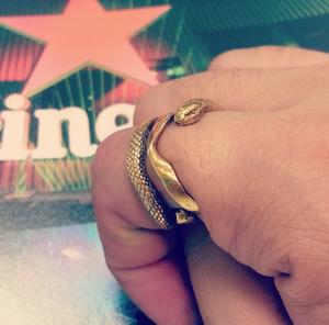HOASHIYUSUKEのヘビのリング brass