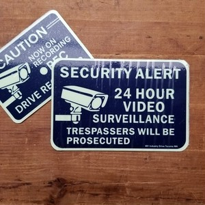 SECURITY SIGN ステッカー 蓄光 MEDIUM