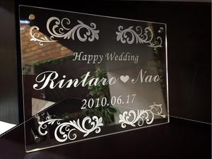 結婚祝いに HappyWedding ウェルカムボード