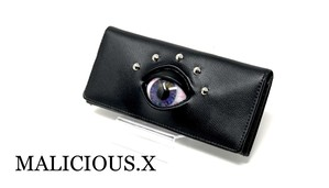eye wallet / dark blue rainbow
