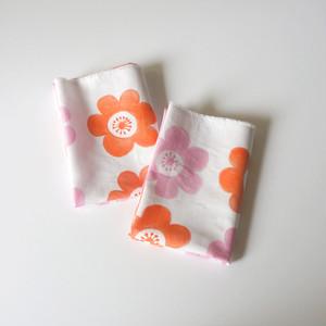 【カットクロス】 anemone(pink-orange)Kona®コットン生地(52cm×50cm)