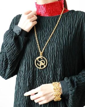 Sonia Rykiel golden long necklace