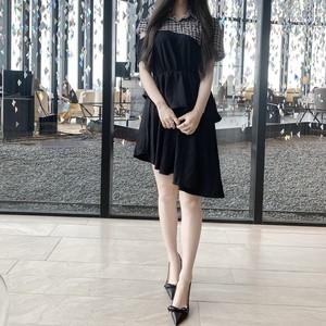 ❤︎ shoulder cut asymme dress