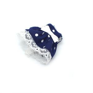ミキちゃんマキちゃんサイズ 紺色のドットワンピース