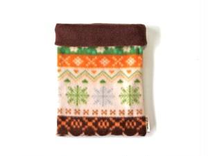 ハリネズミ用寝袋 M(冬用) フリース×フリース ノルディック ブラウン