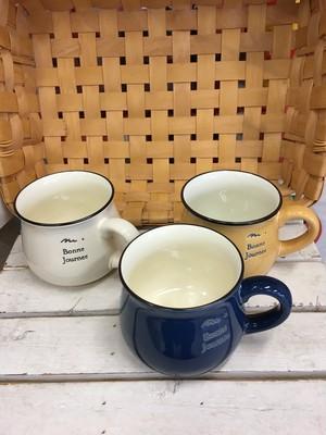 ホーロー風陶器マグカップ