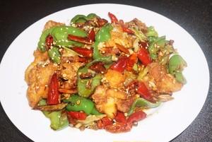 【盛青】鶏肉とピーマンの唐辛子炒め(ラーズージー)弁当
