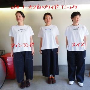ステートT  半袖wideTシャツ  11C112 /デンマーク柄 サイズ2 、11C113 /フインランド柄 サイズ2 、11C114 /スイス柄 サイズ2