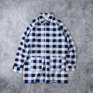 70's【Dead Stock】Pajama shirts 70年代 デッドストック パジャマシャツ ガウン ブロックチェック 総柄 パジャマ ヴィンテージ  Vintage 古着 A508