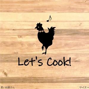 職場やご自宅にも❤︎料理をしよう!ニワトリでキッチンルームステッカーシール