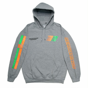"SEASONING × GIONO HOODIE ""AOTOMOBILE"" - GRAY"