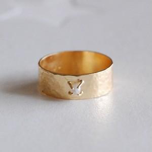 ダイヤモンド原石K18リング [01271]