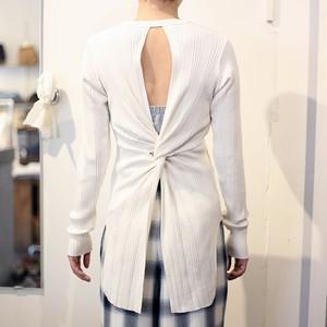 【PHEENY】random rib back drape L/S(IVORY)