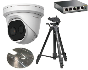 アイリスオーヤマ サーマルカメラ ドーム型(非接触型体温計)三脚・取付治具・電源HUBの4点セット(税込)