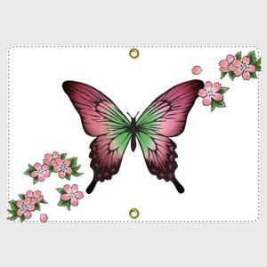 桜蝶<濃紅>パスポートケース