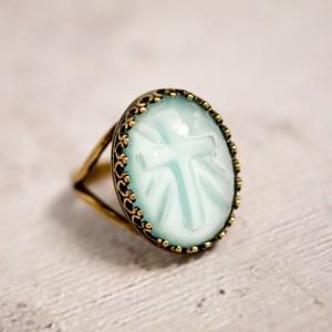 十字架ガラス リング(指輪)