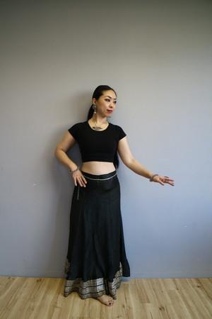 Vintage saree Black skirt