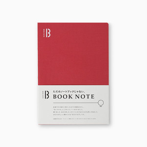 「BOOK NOTE」 /B6サイズ/ルージュレッド