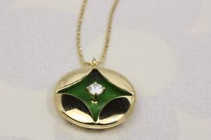 k18蒔絵ダイヤプチネック