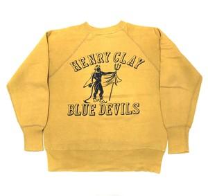 50's BLUE DEVILS Flock Print SWEAT フロッキープリント ヴィンテージ スウェット
