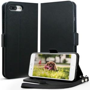 iPhone 7 Plus ケース 手帳型 カバー アイフォン7 プラス ケース 手帳型カバー スタンド機能 カードホルダー ストラップ付き Jenny Desse保証付き