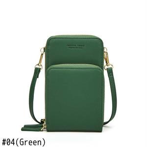 Messenger Bag Leather Card Holder Wallet Solid Mini Crossbody Bag ミニ レザー クロスボディ ソリッドカラー メッセンジャーバッグ ウォレット 財布 パスケース (HF0-7370816)