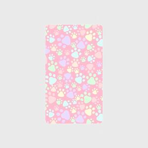モバイルバッテリー 【肉球柄ピンク】