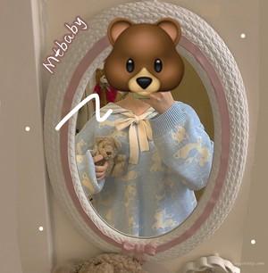 【トップス】秋冬韓国系スウィートセーラーカラーカートゥーン動物柄セーター