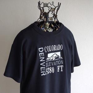 "[GILDAN] ""DENVER"" エンブロイダリースーベニアTシャツ ブラック 表記(S) 刺繍"