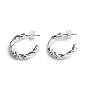 Twist silver pierces