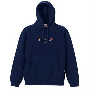 【New】フード付パーカー(刺繍/Navy)