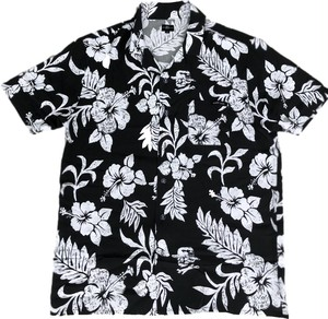 HARDLUCK Vacay Hawaiian Button Up Shirt black