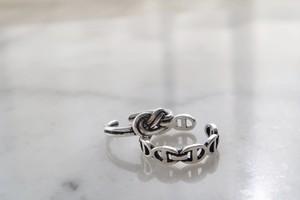 En haut ring ➕double twist ring セット