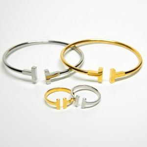 【T letter】 Ring & Bangle セット