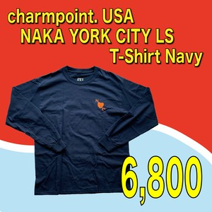 charmpoint. USA / NAKA YORK CITY LS T-Shirt Navy