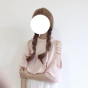 【tops】無地ファッションラウンドネックTシャツ19156704