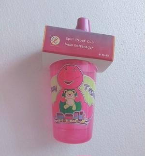 乳幼児用 スピルプルーフカップ Barney USA Purple