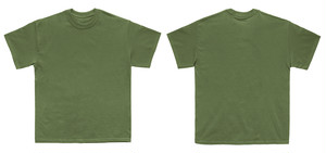 渋い緑のシャツ