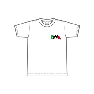 BZMR [One point color tee] White.