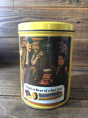 Butterfinger Tin Curtiss Candy/バターフィンガー 缶  ビンテージ