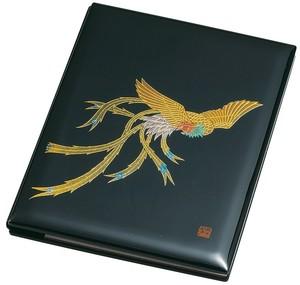 34-4017 ブック型ピクチャー 黒塗 鳳凰