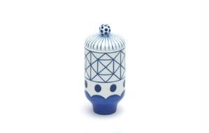Jaime Hayon × KUTANI CHOEMON 蓋付  小吸物/格子に波