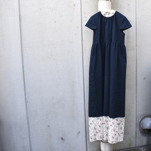 Cap sleeve long dress(Dark Green)/ 梨凛花