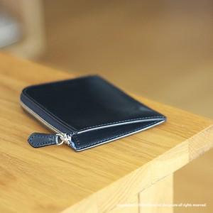 "L型財布 ""Leatus"" ・ネイビー×サックス  [受注製作品]"