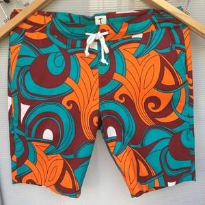 アフリカ布のショートパンツ