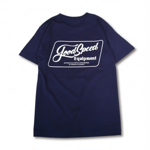 GOODSPEED equipment EVILACT(イーブルアクト) / Lettering Logo S/S T's(navy)